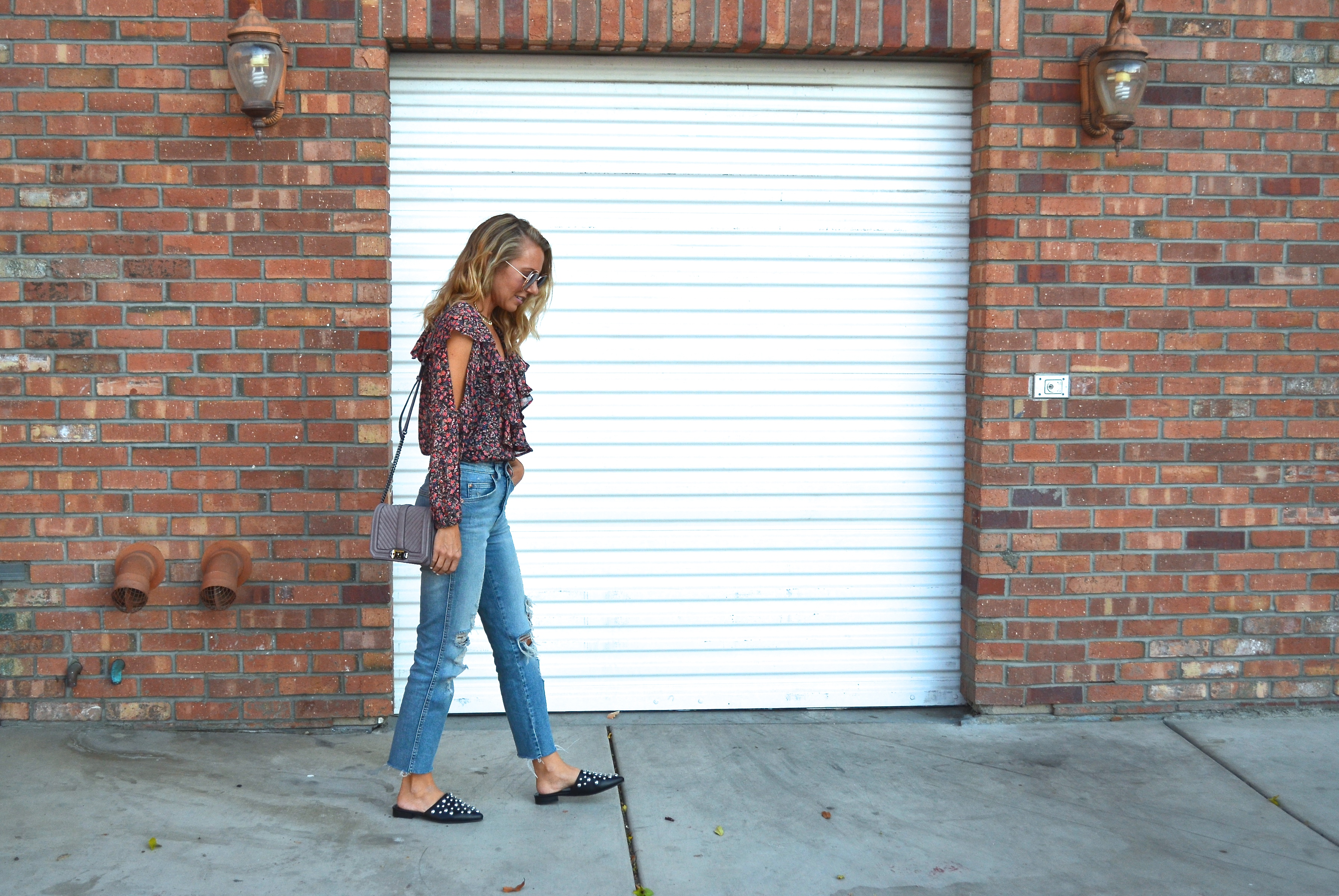 Floral Ruffle Top and My New Favorite Mules