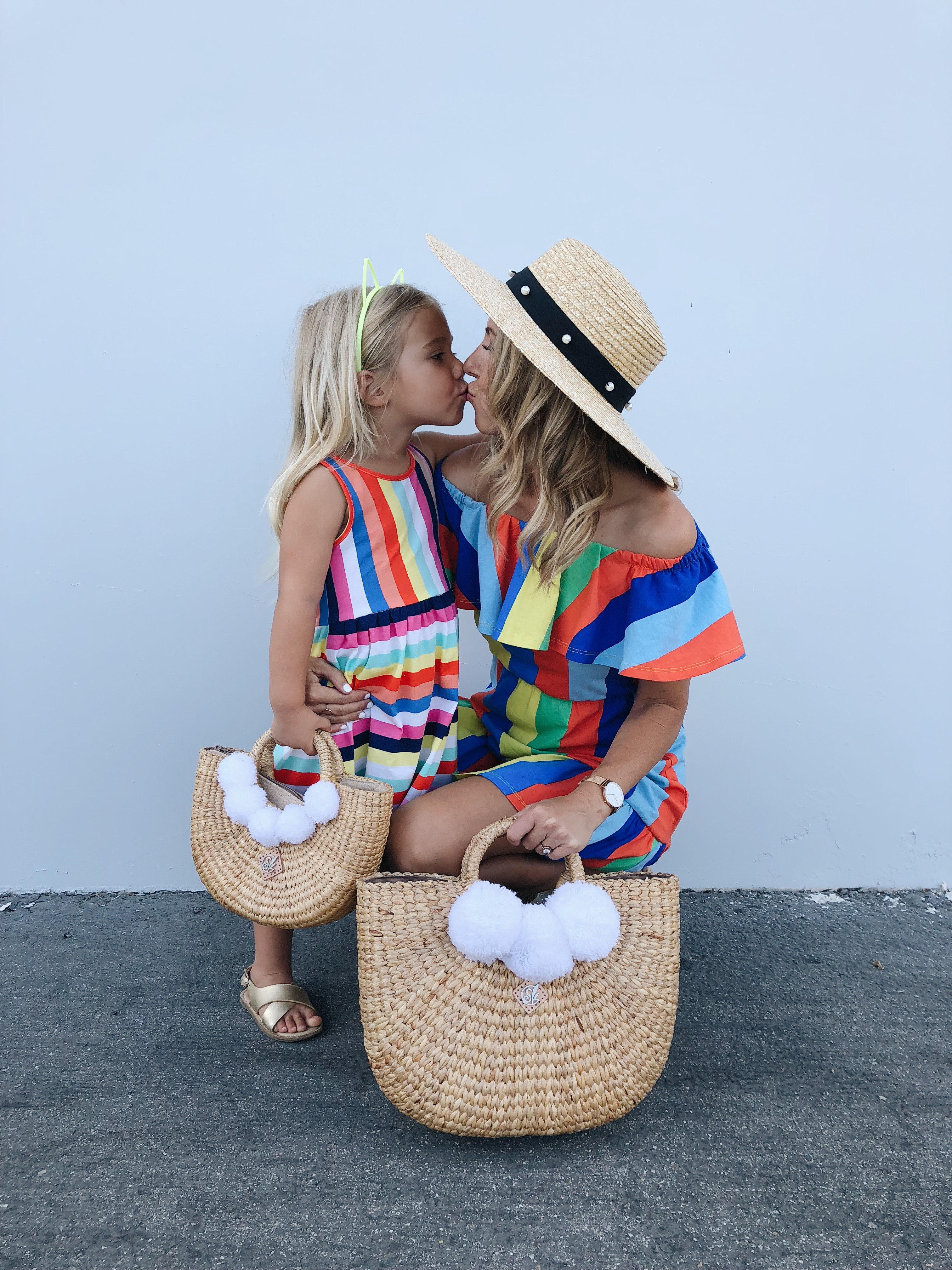 MOMMY & ME IN STRIPES- Jaclyn De Leon Style + MOM STYLE + MATCHING OUTFITS + COLORFUL STRIPES + SUMMER STYLE + KID STYLE + MOMMY LIFE + ASOS + H&M KIDS + CASUAL DRESSES + STREET STYLE + STRIPE TREND + #MOMLIFE #MOMMYANDME #MATCHING