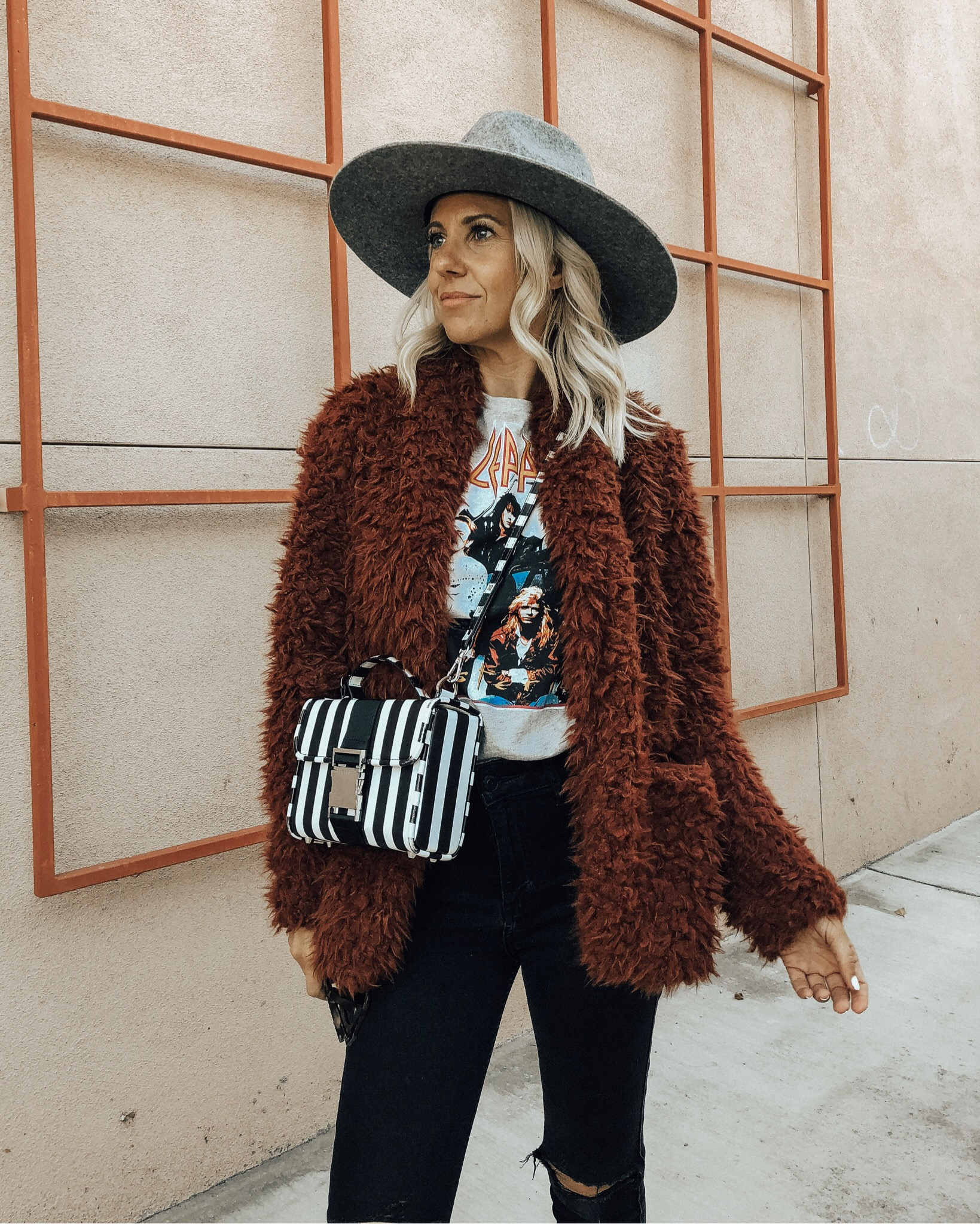 NOVEMBER TOP 10- Jaclyn De Leon Style + faux fur jacket + winter style + casual fall outfit + belk + nordstrom rack + cozy winter layers + what to wear this season + top selling items
