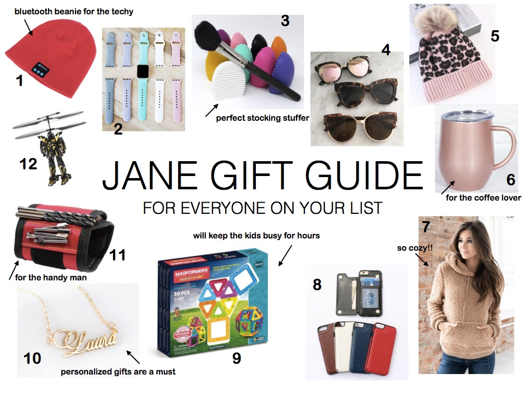 JANE GIFT GUIDE FOR EVERYONE ON YOUR LIST- Jaclyn De Leon Style - holiday gift guide + online shopping + what to buy this xmas + gift giving + for the beauty lover + for the kids + for the techy + cozy sherpa sweatshirt + coffee lover + shopping guide