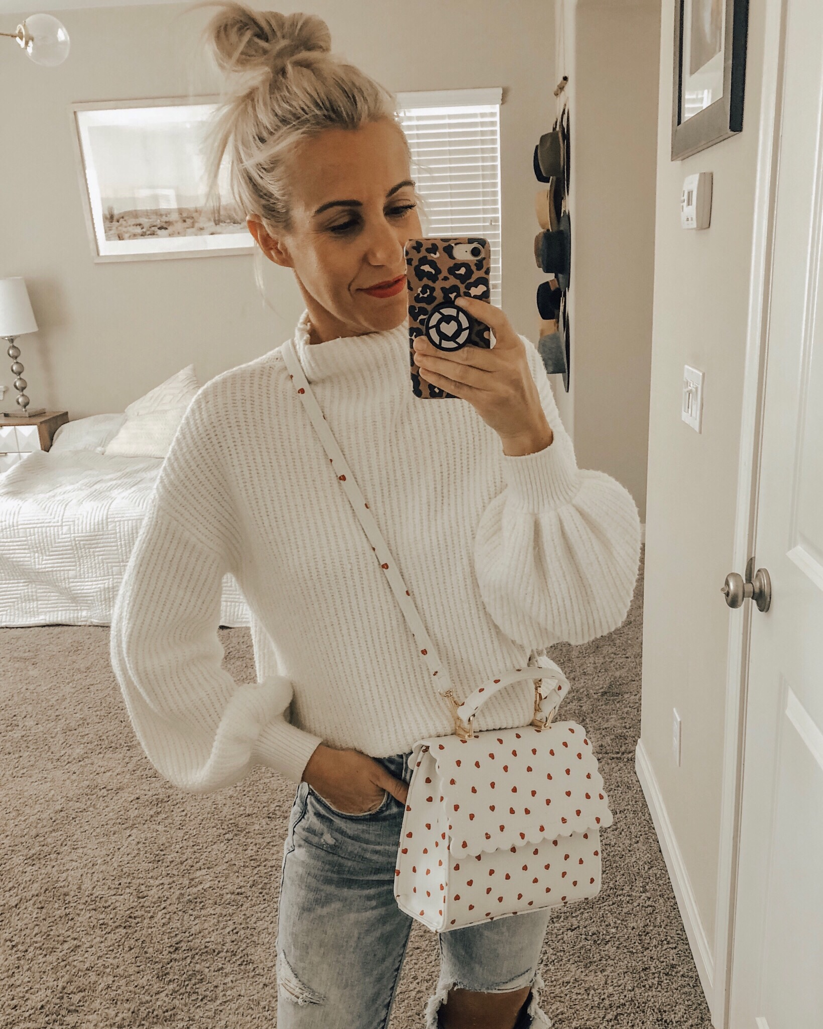 JANUARY TOP 10- Jaclyn De Leon Style + top selling items for the month + espadrille sandals + dsw summer shoes + mom jeans + distressed denim + star sweatshirt + valentine's tees