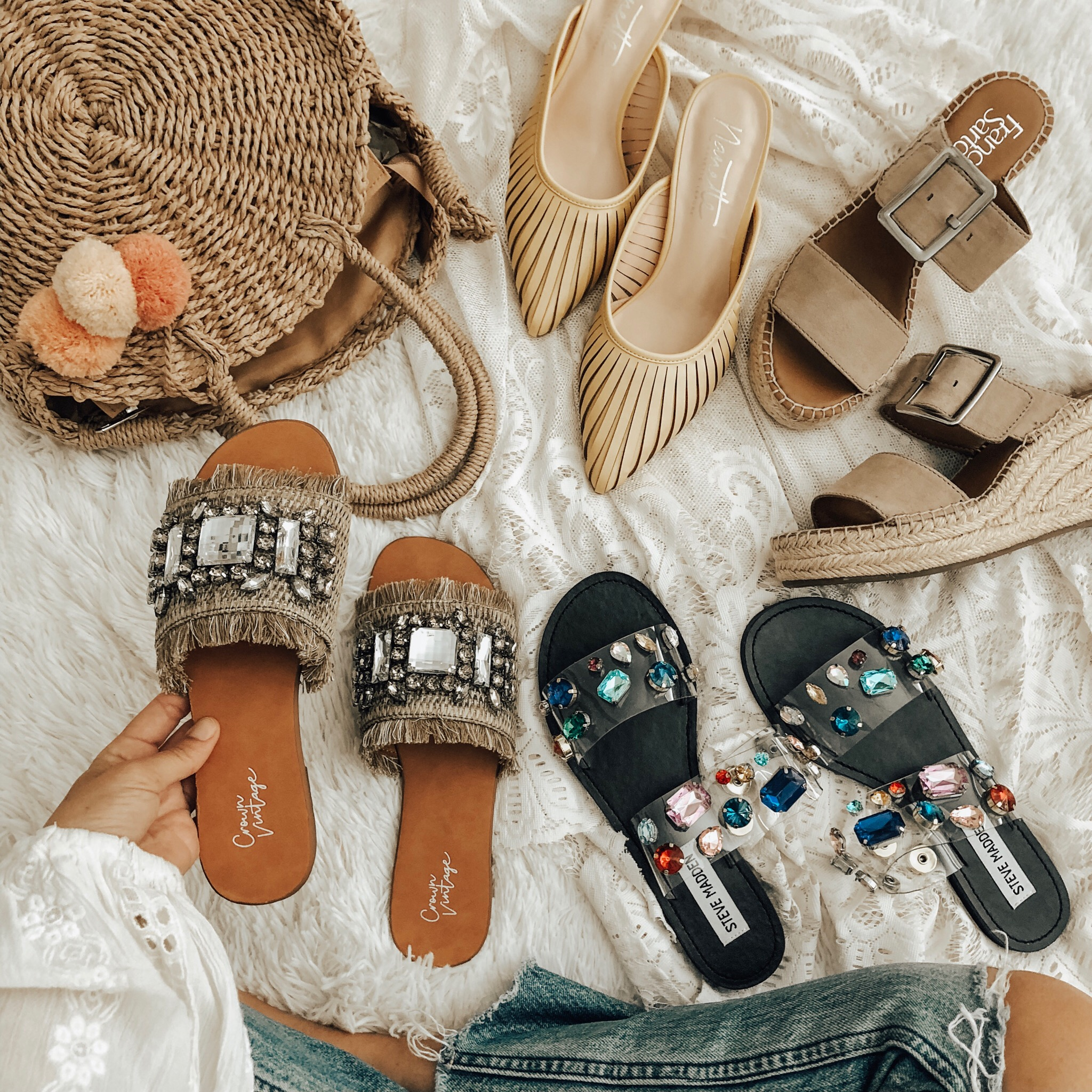 MARCH TOP 10- Jaclyn De Leon Style + My top ten selling items from the month of March are everything from the coziest jumpsuit, jewelry travel case, swim suit cover up, espadrilles and of course the cutest embellished slide sandals. Most of the favorites were from Target, Amazon, DSW and Abercrombie!