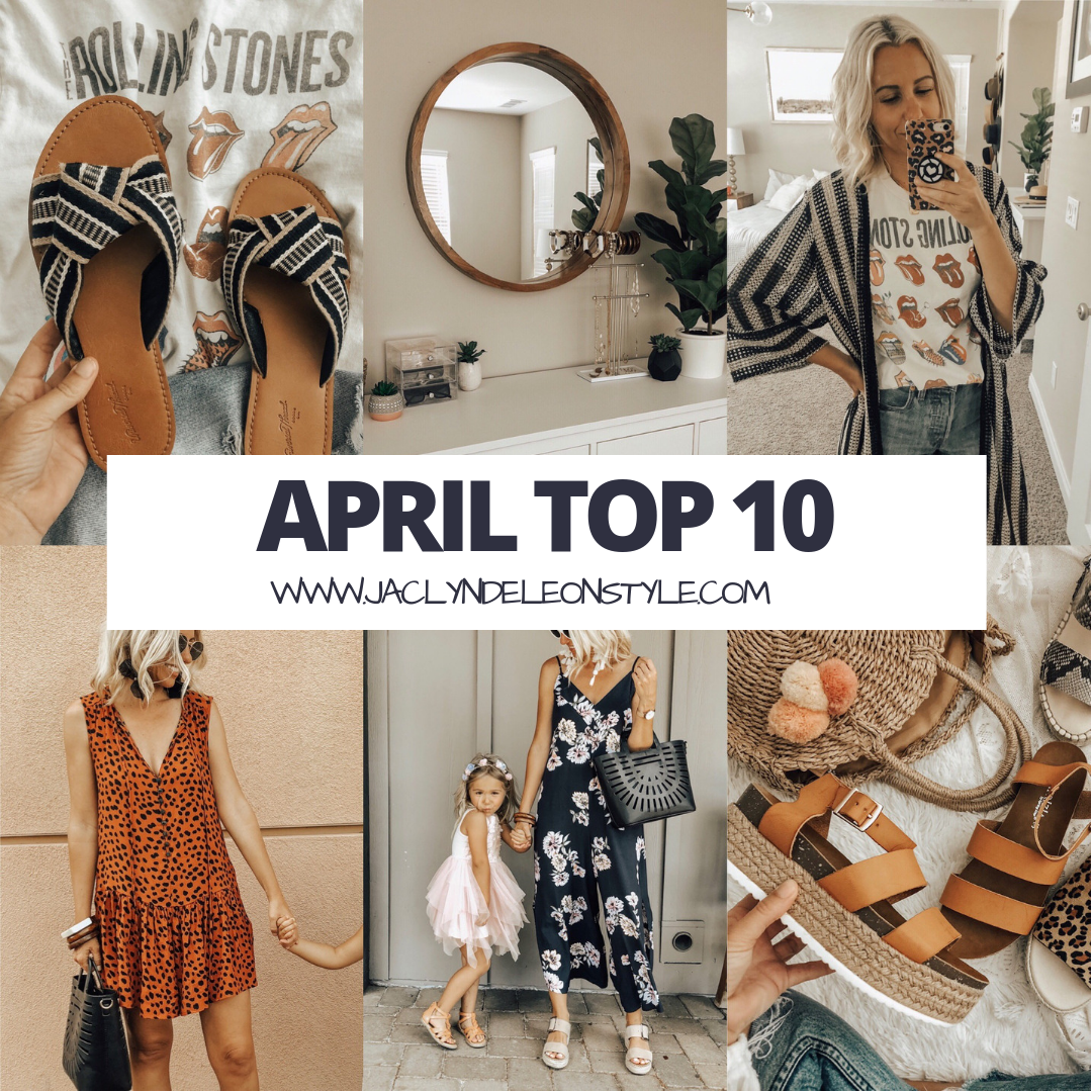 APRIL TOP 10- Jaclyn De Leon Style + Here you have my top selling items for the entire month of April. No surprise the coziest jumpsuit and the cutest espadrilles I can't stop wearing come in at the top