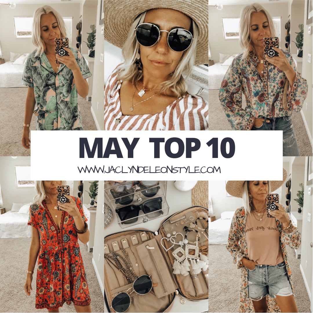 MAY TOP 10- Jaclyn De Leon Style + This month was all about the Amazon finds! 8 out of the top 10 were from Amazon and I'm not one bit surprised. There have been so many good items and it doesn't get much better than prime free shipping +returns