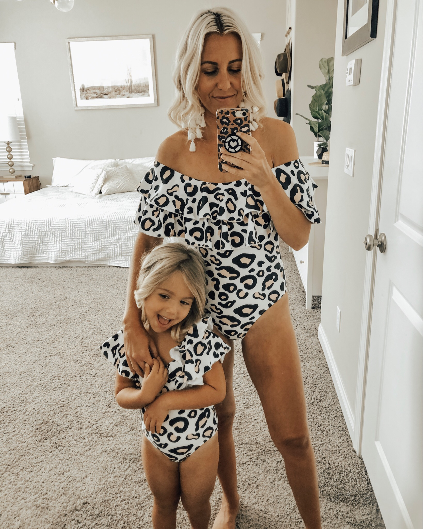 MAY TOP 10- Jaclyn De Leon Style + This month was all about the Amazon finds! 8 out of the top 10 were from Amazon and I'm not one bit surprised. This ruffle leopard print mommy & me suits are so fun and another great Amazon find