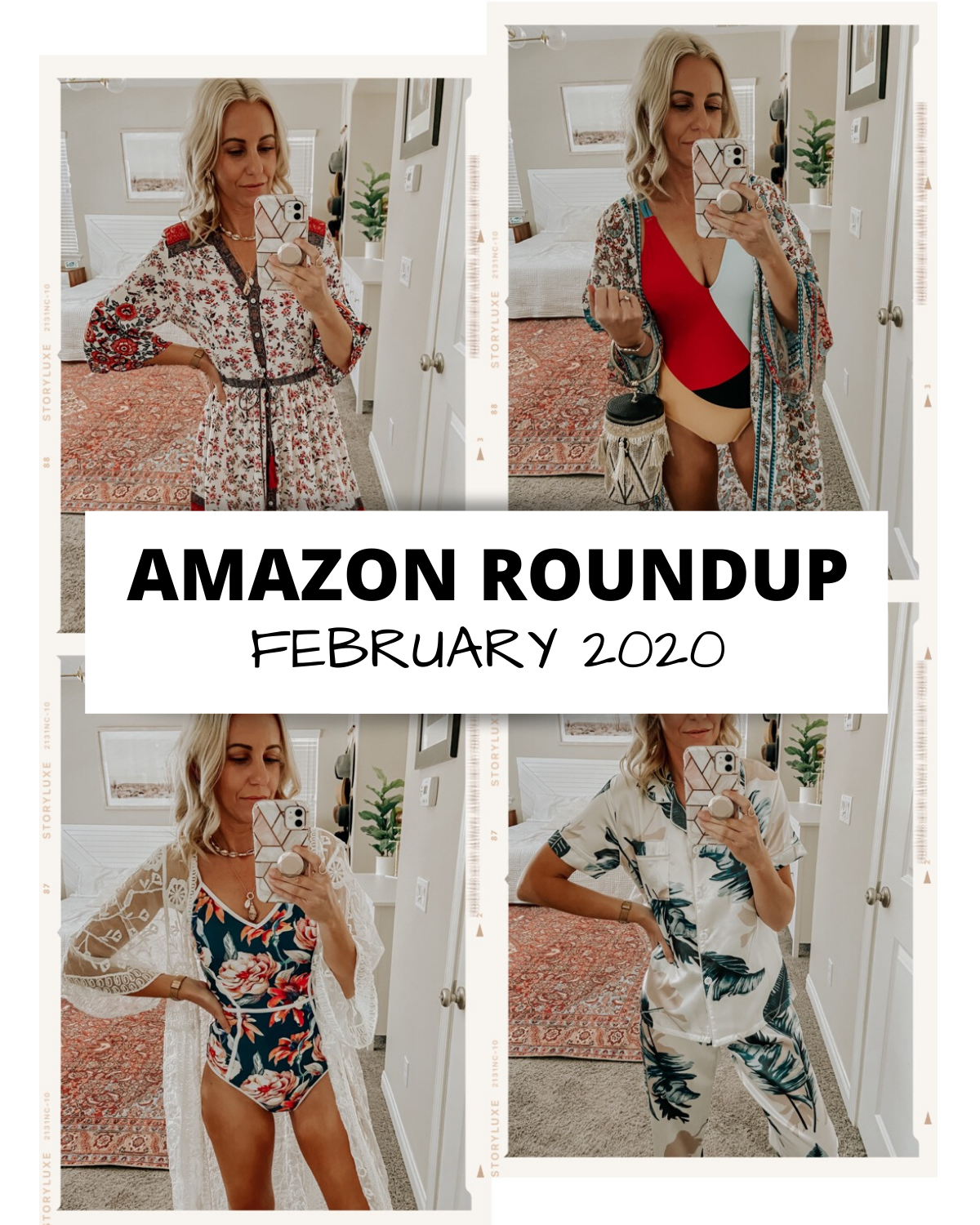 AMAZON ROUNDUP- FEBRUARY 2020- Jaclyn De Leon Style+ Sharing all my favorite Amazon finds from the month of February. Tons of cute spring break looks including swimwear, kimonos, dresses and more.